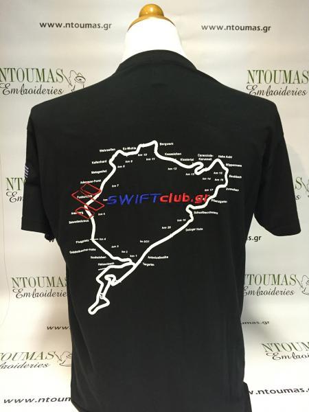 Τύπωμα και κέντημα σε t-shirt, Swift club